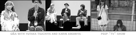 pictures: Yutaka Tsuchiya, Karin Amamiya and scene from 'Peep TV Show'