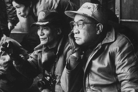 picture: Fujio Morita (left) with Hideo Gosha