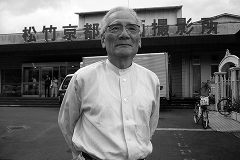 picture: Fujio Morita outside Shochiku Studios in Kyoto