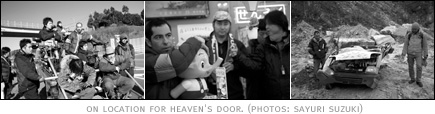 picture: Michael Arias on location for Heaven's Door.